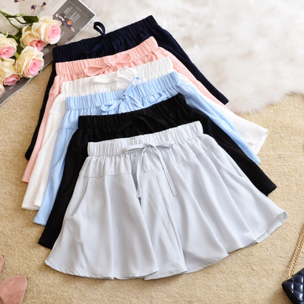 Chiffon high waist elastic skirt yv42291