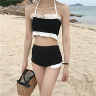 Cute Ruffled Swimsuit Set YV40387