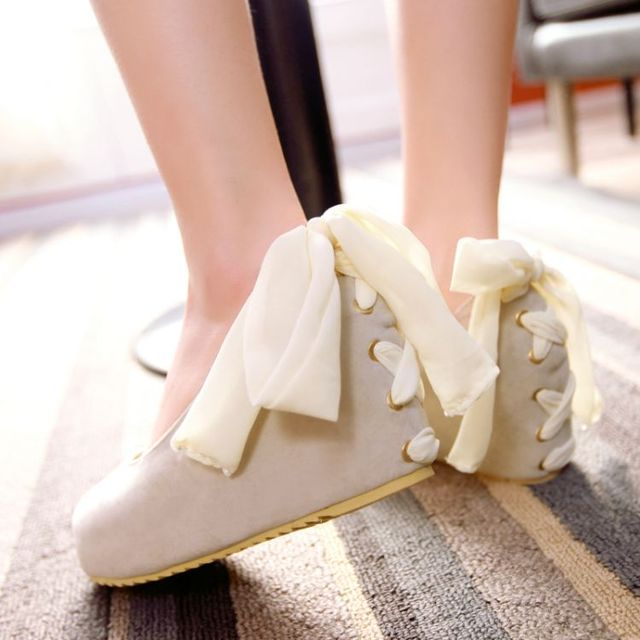 Lolita lace strap wedge shoes YV40442