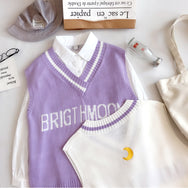 BRIGTHMOON V-neck knit vest top YV40490