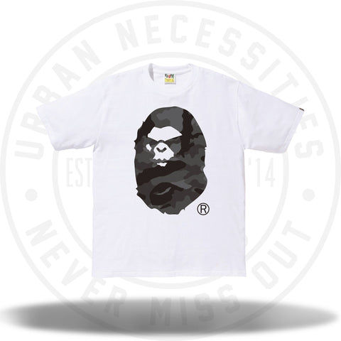 A Bathing Ape Woodland Camo white Mad Face Tee White/Black-Urban Necessities