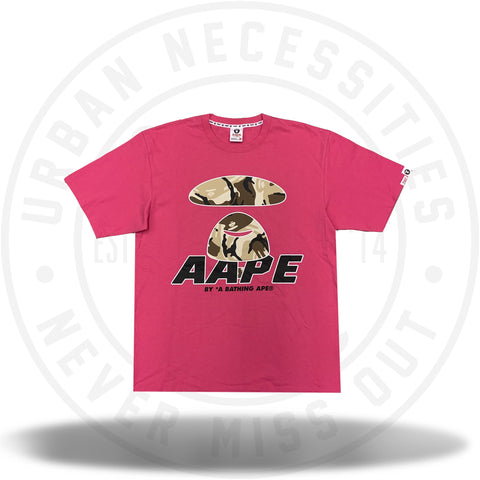 Aape By A Bathing Ape Big Face Camo Pink-Urban Necessities