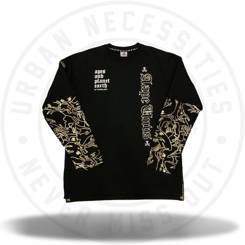 Aape By A Bathing Ape Theme Crewneck Black-Urban Necessities