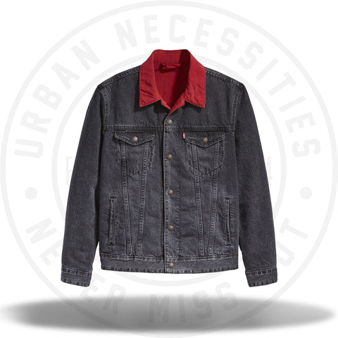 Air Jordan x Levis Reversible Trucker Jacket Black/Red-Urban Necessities