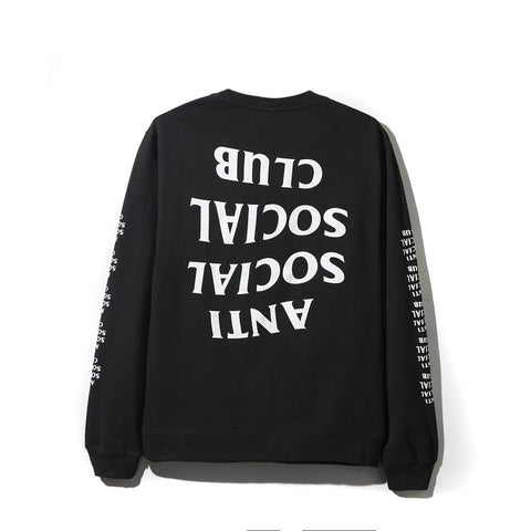 ASSC Anti Social Social Club Blacked Out Long Sleeve Black-Urban Necessities