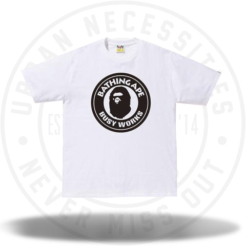 BAPE Bicolor Busyworks Tee White-Urban Necessities