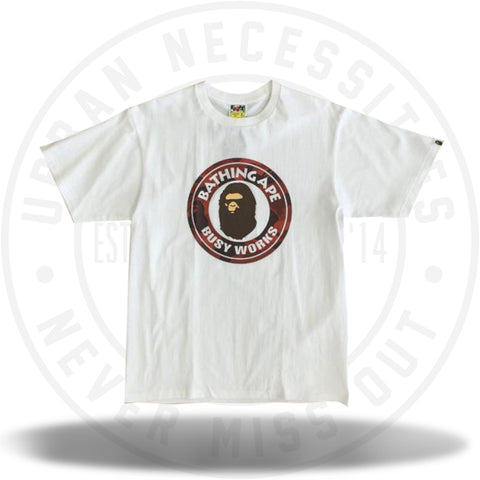 Bape Color Camo Busy Works Tee Red White-Urban Necessities