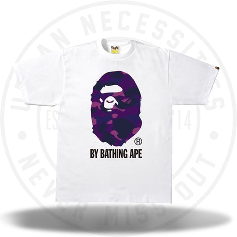 Bape Color Camo By Bathing Ape Tee White/Purple-Urban Necessities