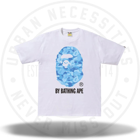 BAPE Fire Camo By Bathing Tee White/Blue-Urban Necessities