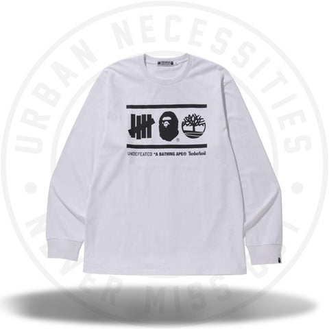 Bape x Undefeated x Timberland L/S Tee White-Urban Necessities