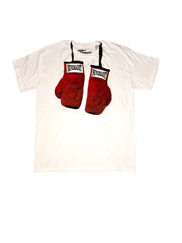 Cloney NEVERLOST Mayweather Autographed Boxing Glove T-Shirt-Urban Necessities