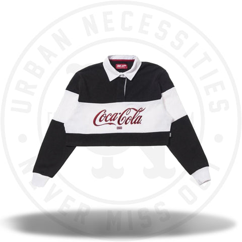 Kith Women x Coca-Cola Cropped L/S Rugby Black-Urban Necessities