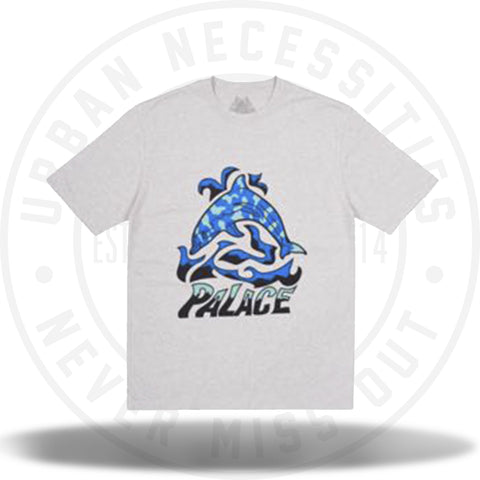 Palace Sketchy Dolphin Tee Grey-Urban Necessities
