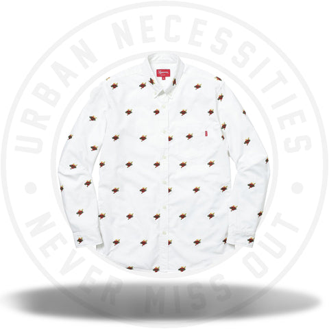 Supreme Sacred Hearts Oxford Shirt White-Urban Necessities