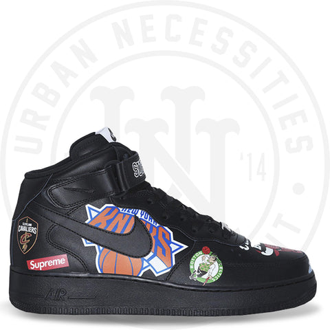 Supreme x NBA x Air Force 1 Mid 07 'Black' - AQ8017 001-Urban Necessities