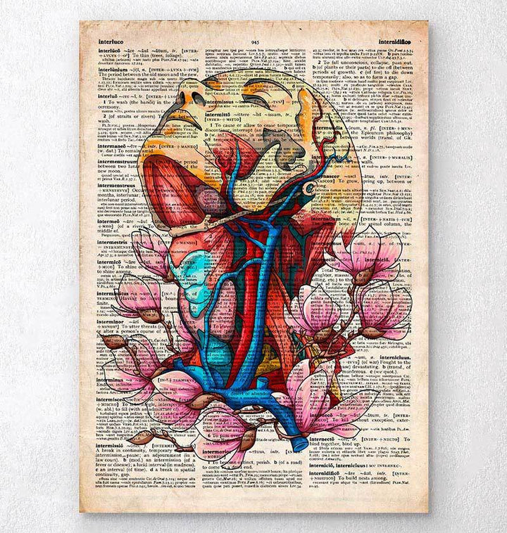 Head, neck and arteries dictionary print