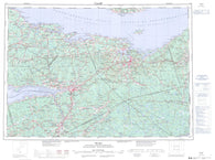 011E Truro Canadian topographic map, 1:250,000 scale