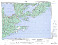 011F Canso Canadian topographic map, 1:250,000 scale