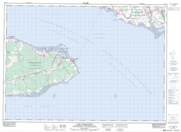 011L04 Cape Tormentine Canadian topographic map, 1:50,000 scale