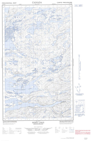 013E16W Hope Lake Canadian topographic map, 1:50,000 scale