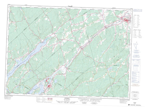 021H12 Sussex Canadian topographic map, 1:50,000 scale