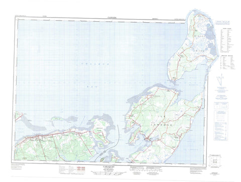 021P15 Caraquet Canadian topographic map, 1:50,000 scale