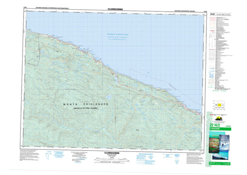 022H02 Cloridorme Canadian topographic map, 1:50,000 scale