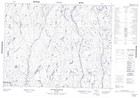 022L02 Riviere Durfort Canadian topographic map, 1:50,000 scale