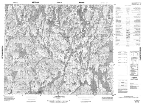 023F03 Lac Delmothe Canadian topographic map, 1:50,000 scale