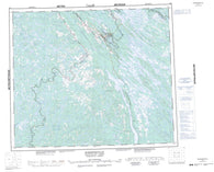 023J Schefferville Canadian topographic map, 1:250,000 scale