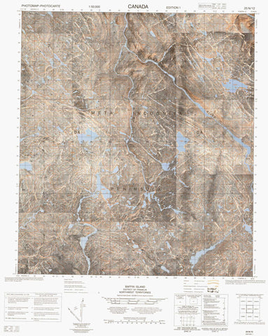 025N12 No Title Canadian topographic map, 1:50,000 scale