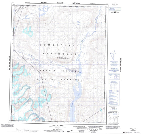 026I09 Circle Lake Canadian topographic map, 1:50,000 scale