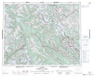 082N Golden Canadian topographic map, 1:250,000 scale
