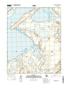 Teller D-4 NW Alaska Current topographic map, 1:25000 scale, 7.5 X 7.5 Minute, Year 2014