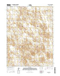 Eckley NE Colorado Current topographic map, 1:24000 scale, 7.5 X 7.5 Minute, Year 2016