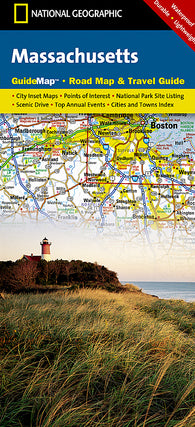Buy map Massachusetts GuideMap by National Geographic Maps