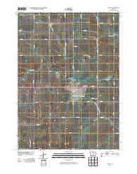 Ackley Iowa Historical topographic map, 1:24000 scale, 7.5 X 7.5 Minute, Year 2010