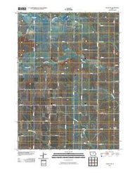 Ackley NE Iowa Historical topographic map, 1:24000 scale, 7.5 X 7.5 Minute, Year 2010