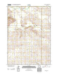 Ackley NE Iowa Historical topographic map, 1:24000 scale, 7.5 X 7.5 Minute, Year 2013