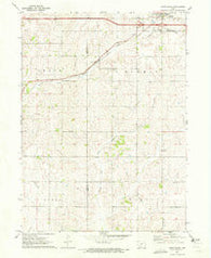 Adair South Iowa Historical topographic map, 1:24000 scale, 7.5 X 7.5 Minute, Year 1971