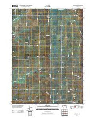 Adair North Iowa Historical topographic map, 1:24000 scale, 7.5 X 7.5 Minute, Year 2010