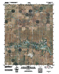Cunningham Kansas Historical topographic map, 1:24000 scale, 7.5 X 7.5 Minute, Year 2009