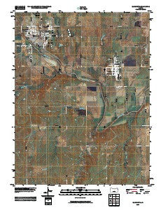 Ellsworth Kansas Historical topographic map, 1:24000 scale, 7.5 X 7.5 Minute, Year 2009
