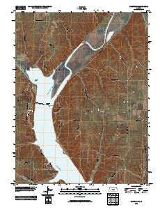 Olsburg NW Kansas Historical topographic map, 1:24000 scale, 7.5 X 7.5 Minute, Year 2009