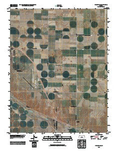 Pierceville Kansas Historical topographic map, 1:24000 scale, 7.5 X 7.5 Minute, Year 2009