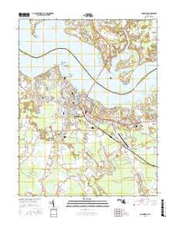 Cambridge Maryland Current topographic map, 1:24000 scale, 7.5 X 7.5 Minute, Year 2016