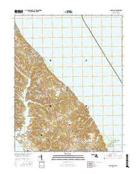 Cove Point Maryland Current topographic map, 1:24000 scale, 7.5 X 7.5 Minute, Year 2016