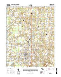 Easton Maryland Current topographic map, 1:24000 scale, 7.5 X 7.5 Minute, Year 2016