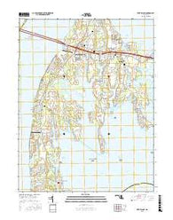 Kent Island Maryland Current topographic map, 1:24000 scale, 7.5 X 7.5 Minute, Year 2016