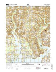 Leonardtown Maryland Current topographic map, 1:24000 scale, 7.5 X 7.5 Minute, Year 2016